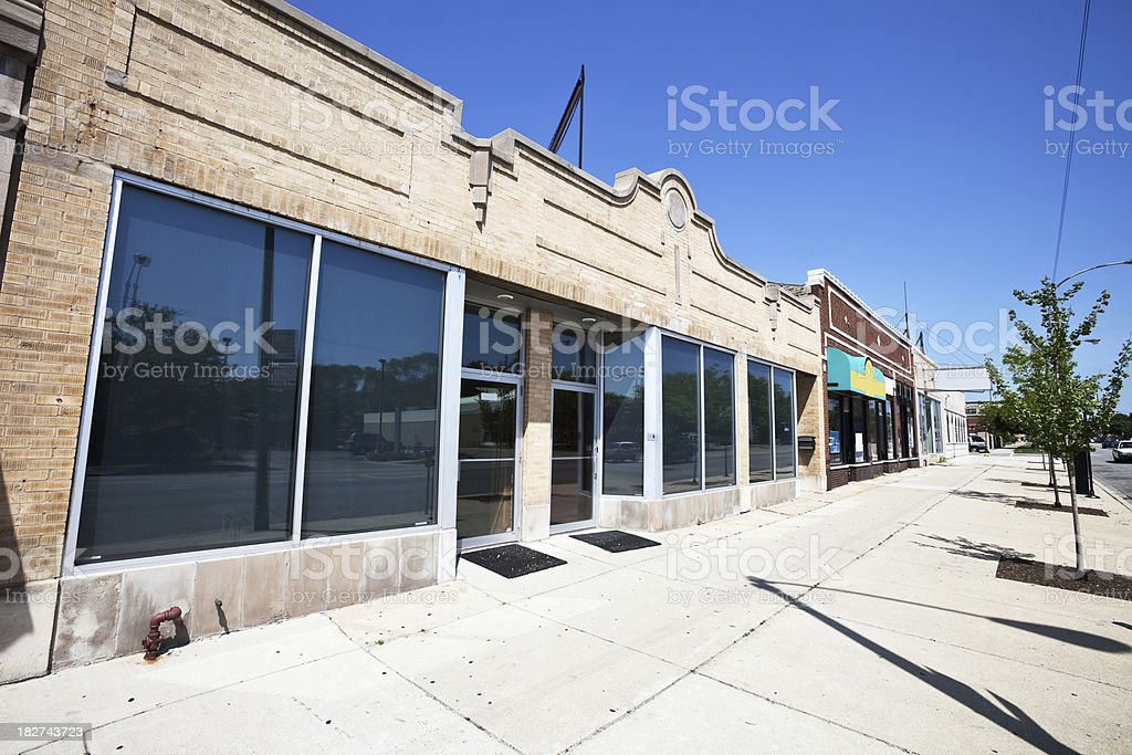 Empty Vintage Shop in West Ridge, Chicago royalty-free stock photo
