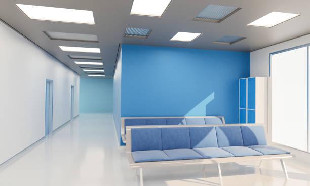 Wartebereich in einem Krankenhaus zu leeren – Foto