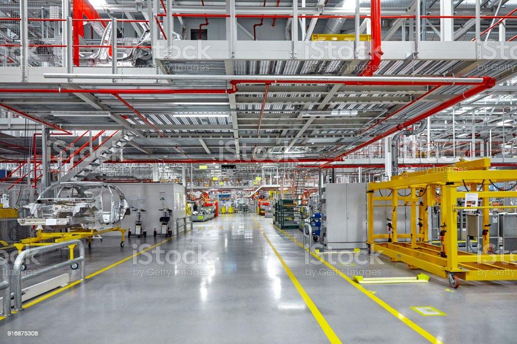 Leeren Gehweg der Automobilindustrie – Foto