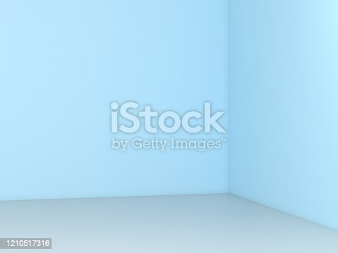 Empty Wall background,Blue wall background