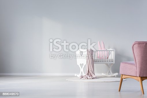 istock Empty wall in baby's room 888049570