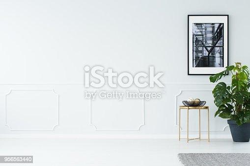 istock Empty wall in minimalist apartment 956563440