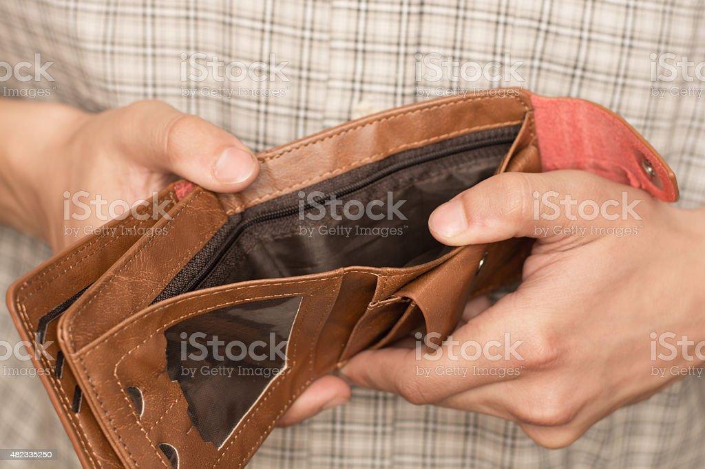 empty wallet stock photo