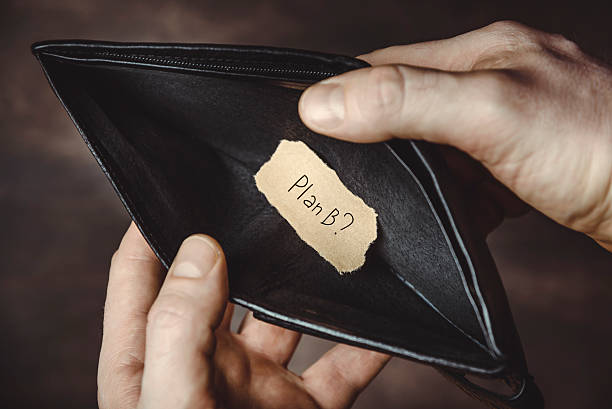empty wallet - bankruptcy stock pictures, royalty-free photos & images