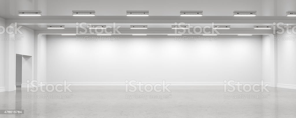 Empty warehouse interior stock photo