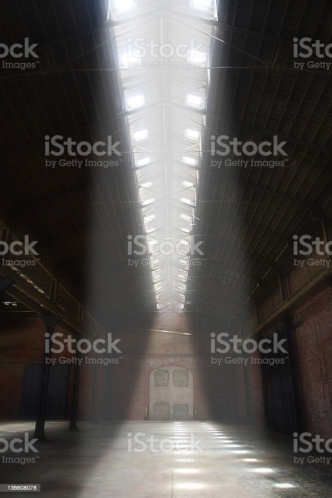Empty warehouse royalty-free stock photo