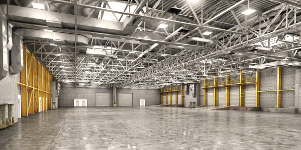 Empty warehouse Empty warehouse. 3d illustration warehouse interior stock pictures, royalty-free photos & images