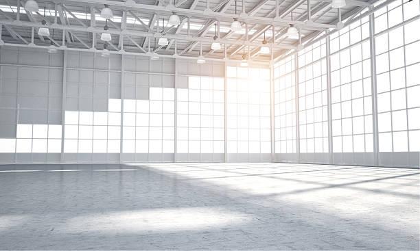 leere lager showroom - eingangshalle wohngebäude innenansicht stock-fotos und bilder