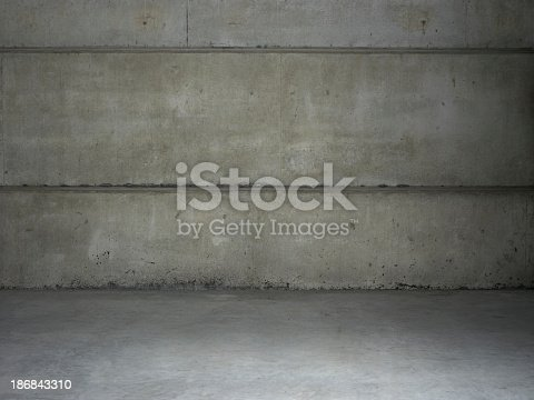 Empty warehouse wall