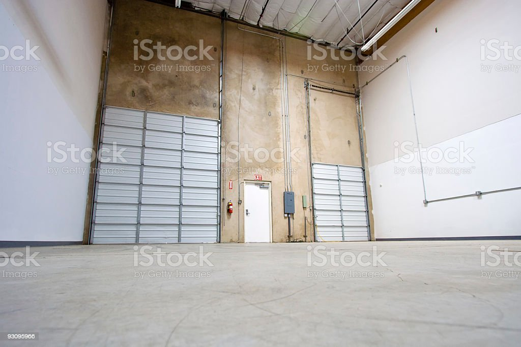 Empty Warehouse Wide Angle stock photo