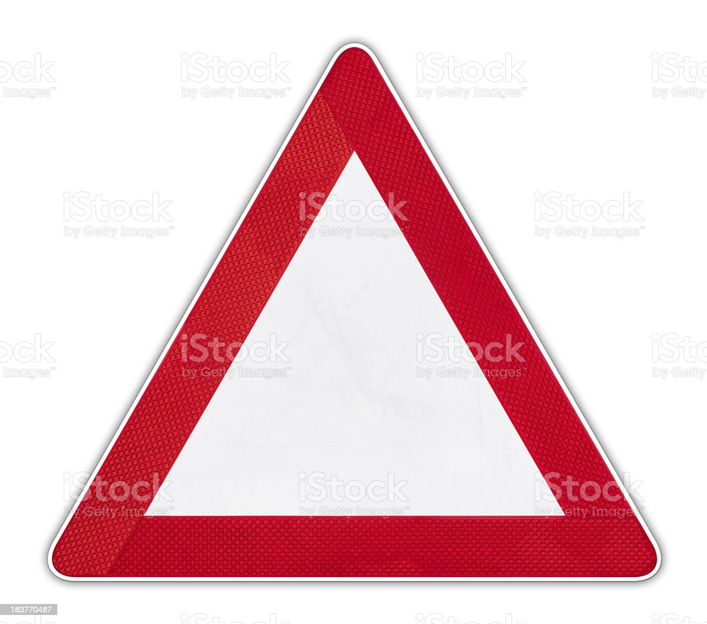 Empty Warning Sign royalty-free stock photo