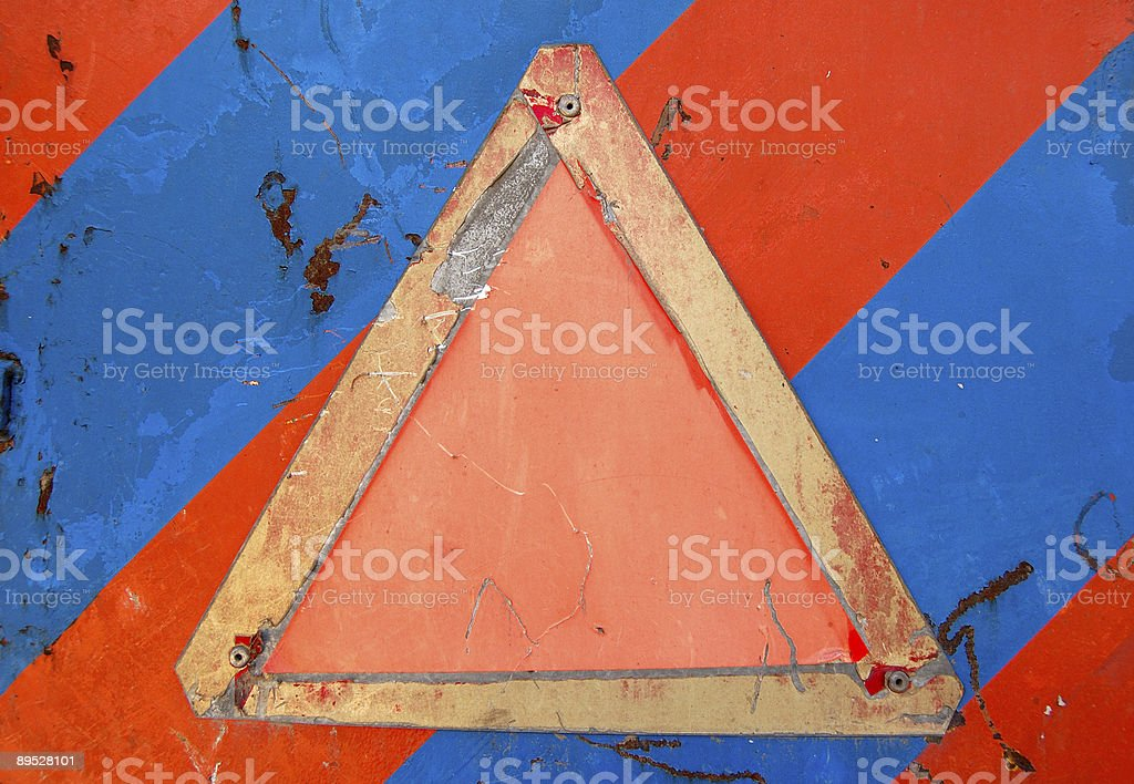 Señal de alerta de vacío foto de stock libre de derechos