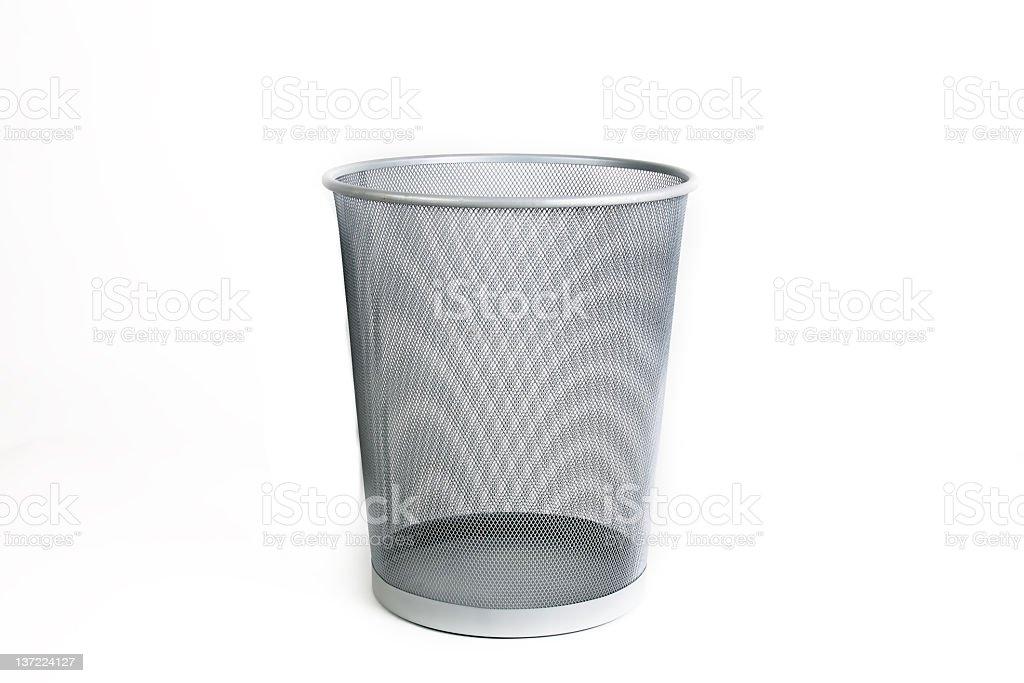 empty wastebasket stock photo