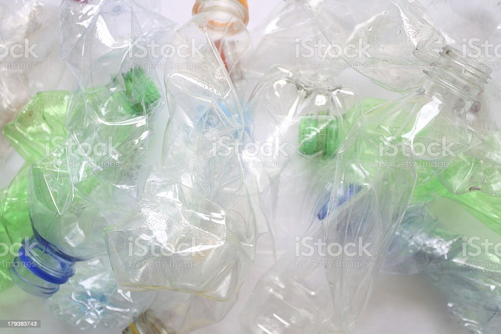 Empty water bottles royalty-free stock photo