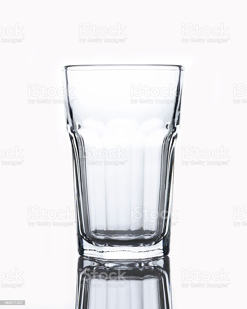 Empty Water Glass stock photo