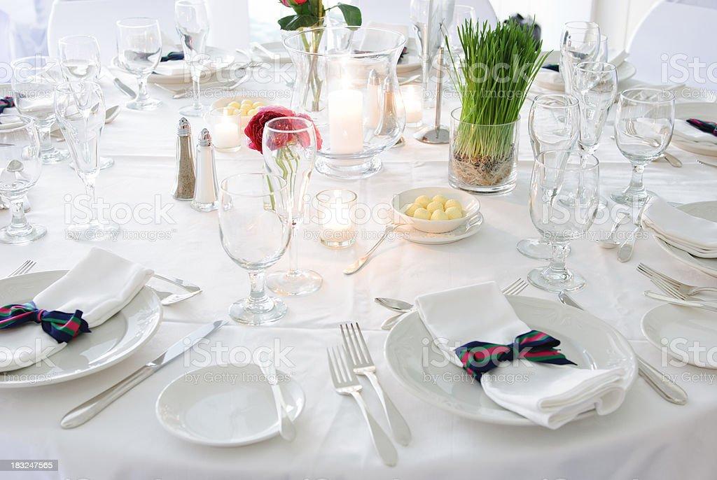 empty wedding table royalty-free stock photo