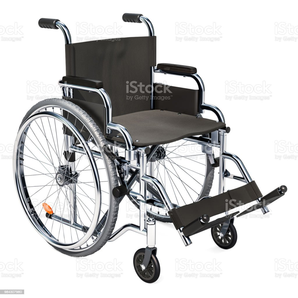 Empty wheelchair stock photo