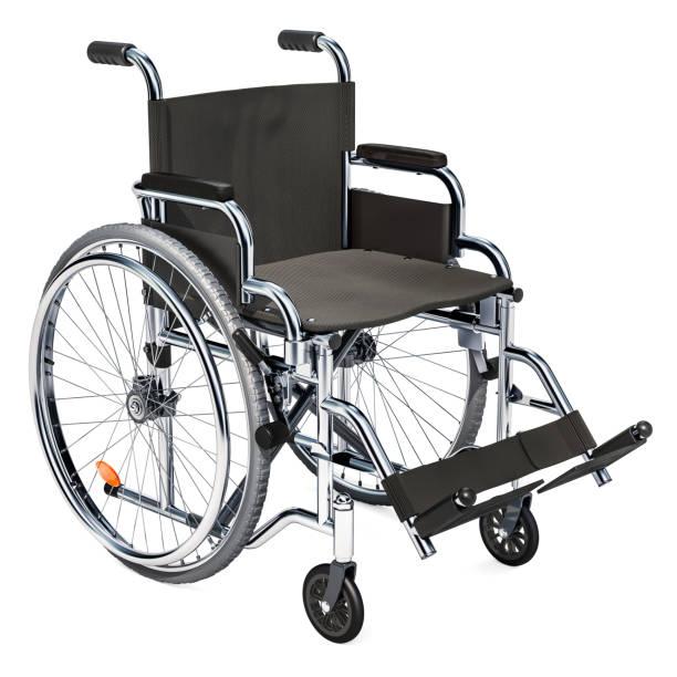 Empty wheelchair stock photo