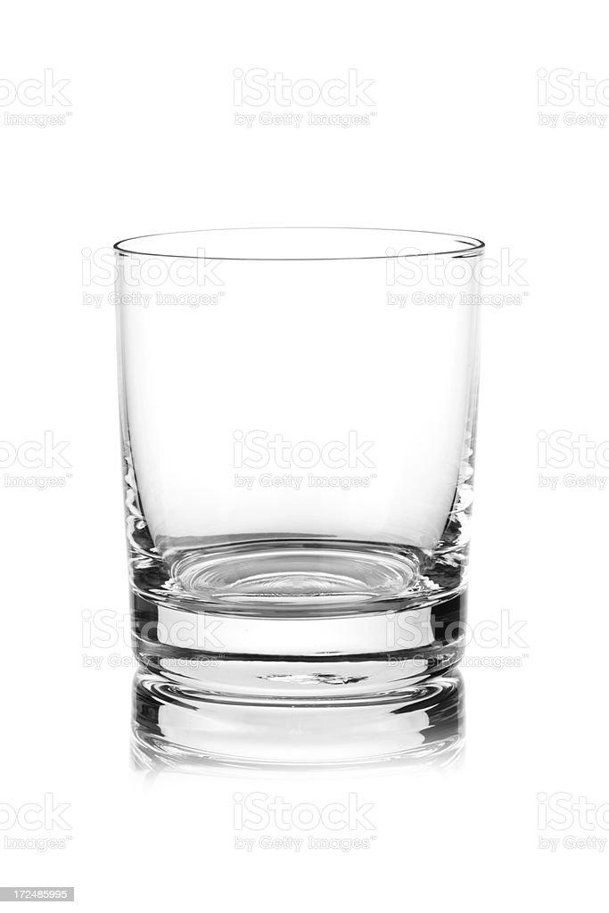 Empty Whisky Glass stock photo