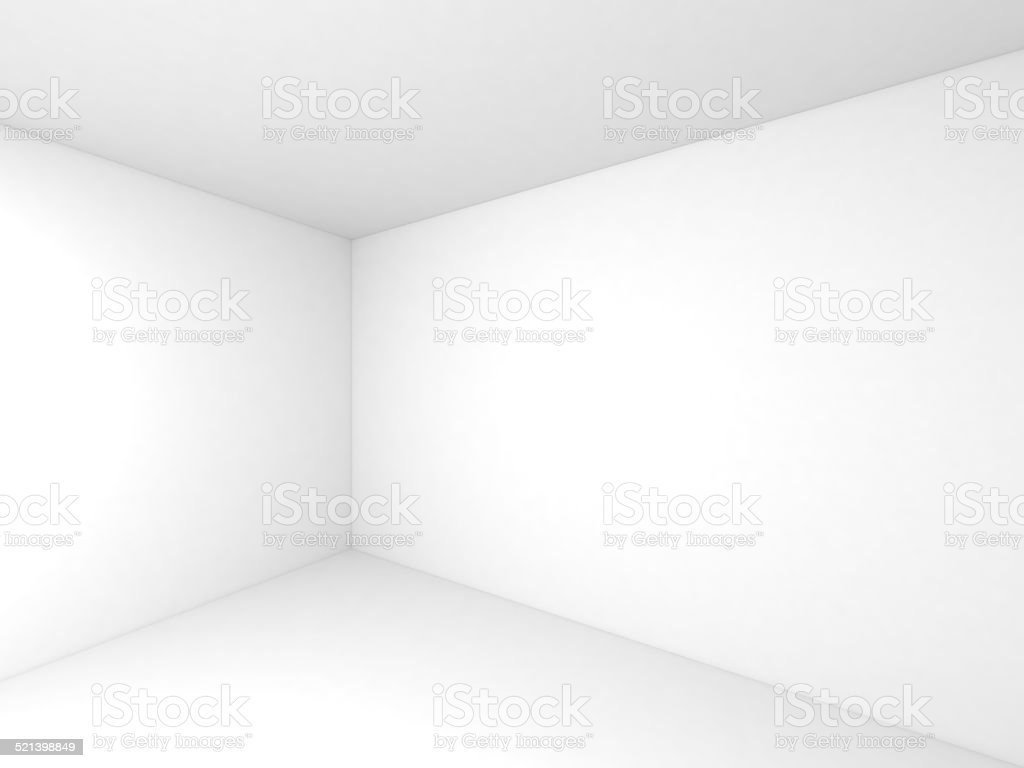 Empty white 3d room interior background stock photo
