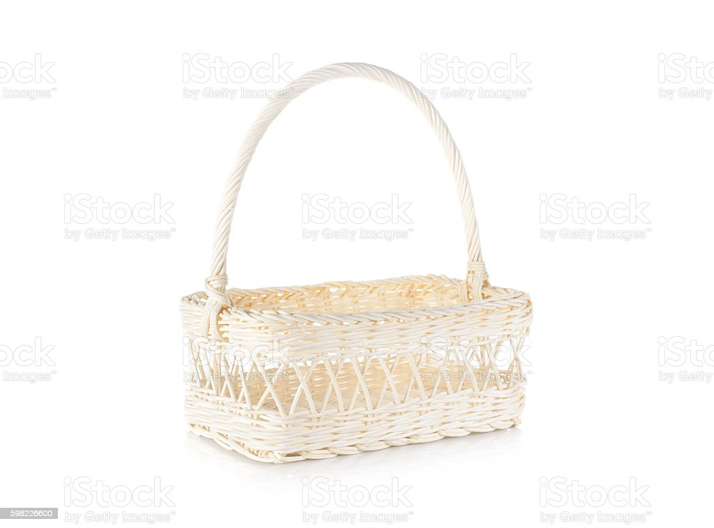 empty white basket on white background foto royalty-free