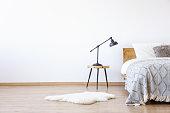 Empty white bedroom