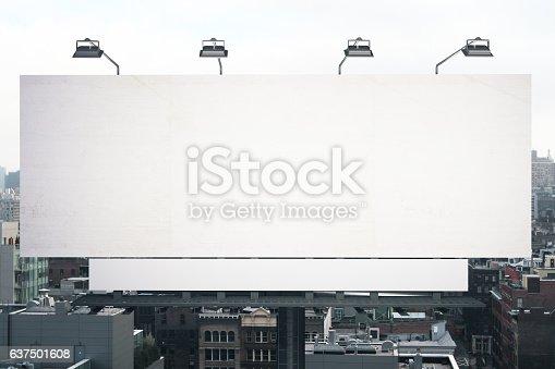 istock Empty white billboard 637501608