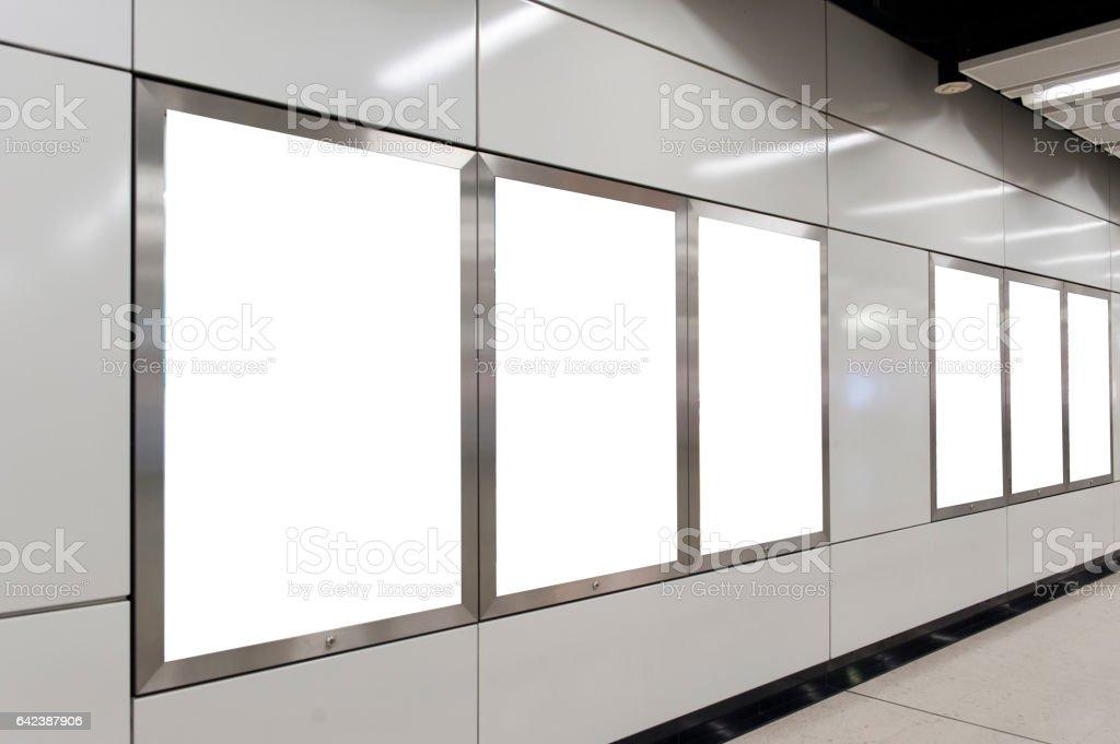Empty White Billboard stock photo