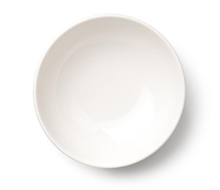 白色背景的空白色碗被隔絕 照片檔及更多 一個物體 照片