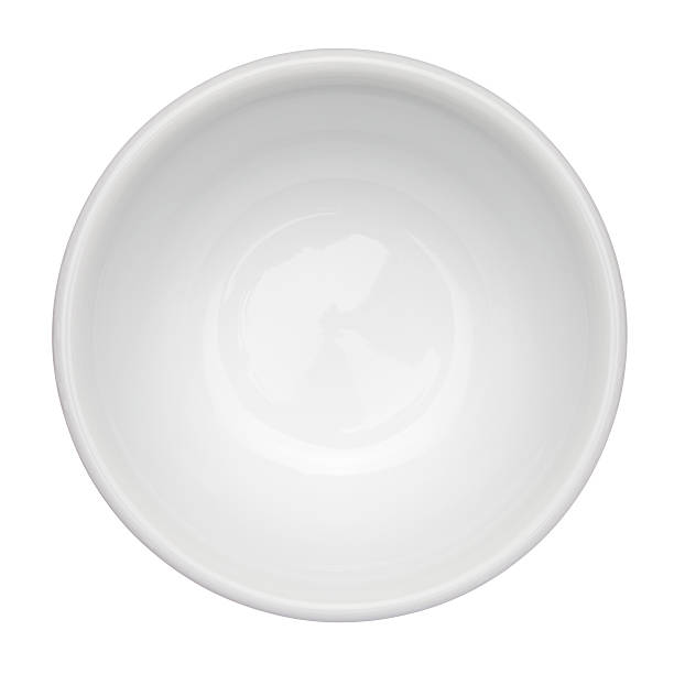 empty, white bowl up against white background - kase stok fotoğraflar ve resimler