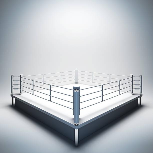 ring de boxeo vacío blanco. - foto de stock