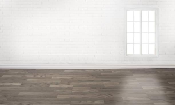 tomma vita tegel vägg rum med ett fönster - solar panel bildbanksfoton och bilder