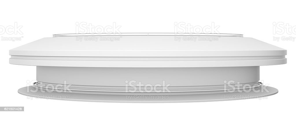 Empty white circle table foto stock royalty-free