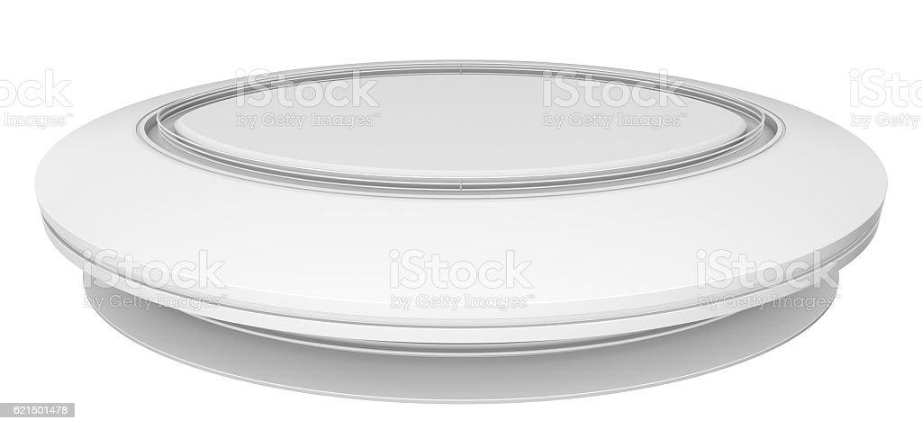 Empty white circle table foto stock royalty-free