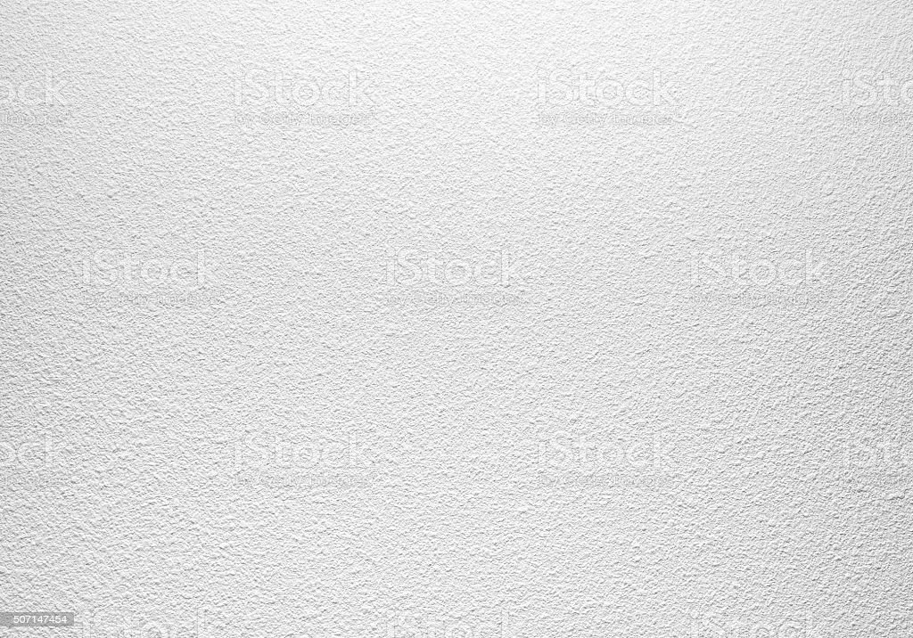 Empty white concrete wall with plaster pattern stock photo