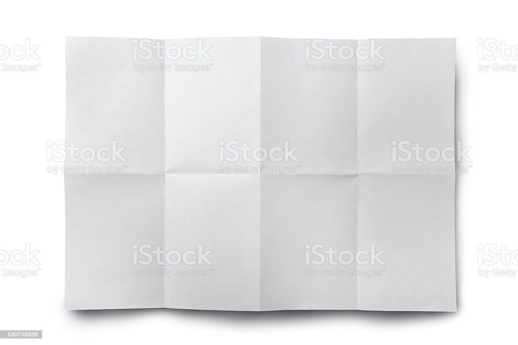Empty white Crumpled paper isolate stock photo