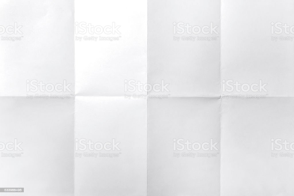 Empty white Crumpled paper stock photo