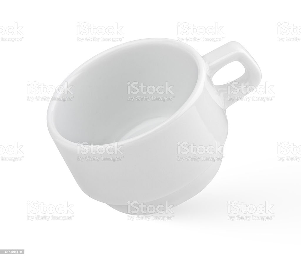 Empty white cup royalty-free stock photo