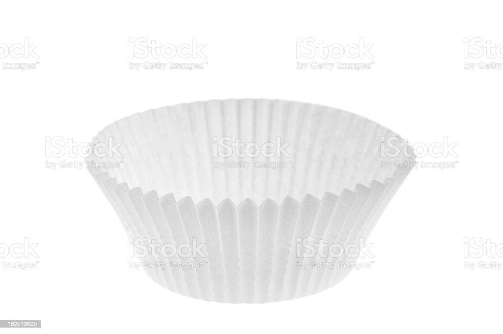 Empty white cupcake stock photo