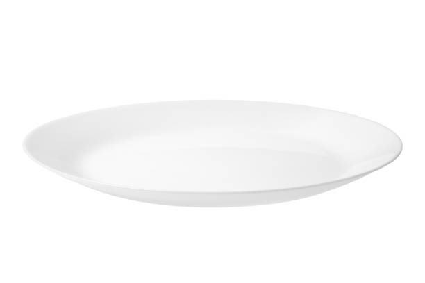 Empty white food plate - foto stock