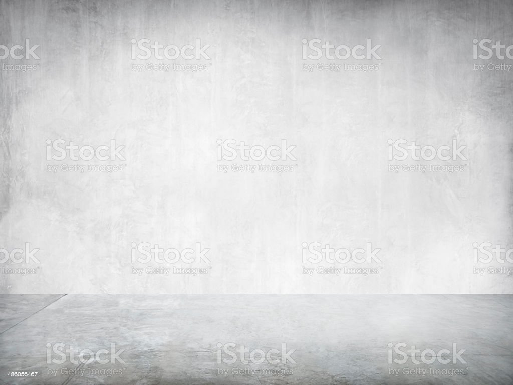 Empty White Industrial Interior Wall For A Copy Space stock photo