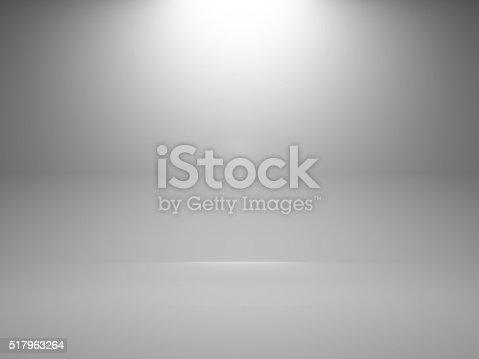 1015509020istockphoto Empty white interior background with spot, 3d 517963264