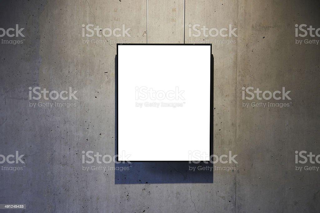 Empty white isolated frame stock photo