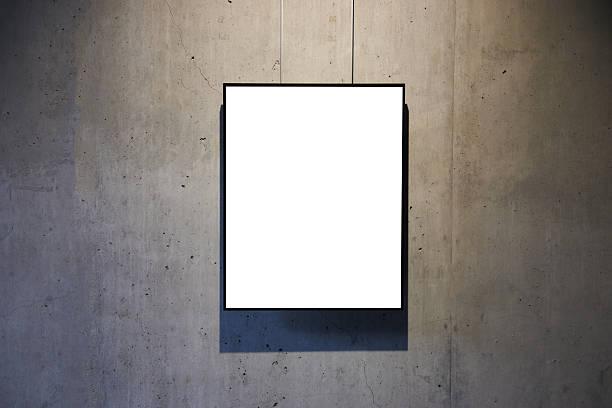 Leere weiße isoliert frame – Foto