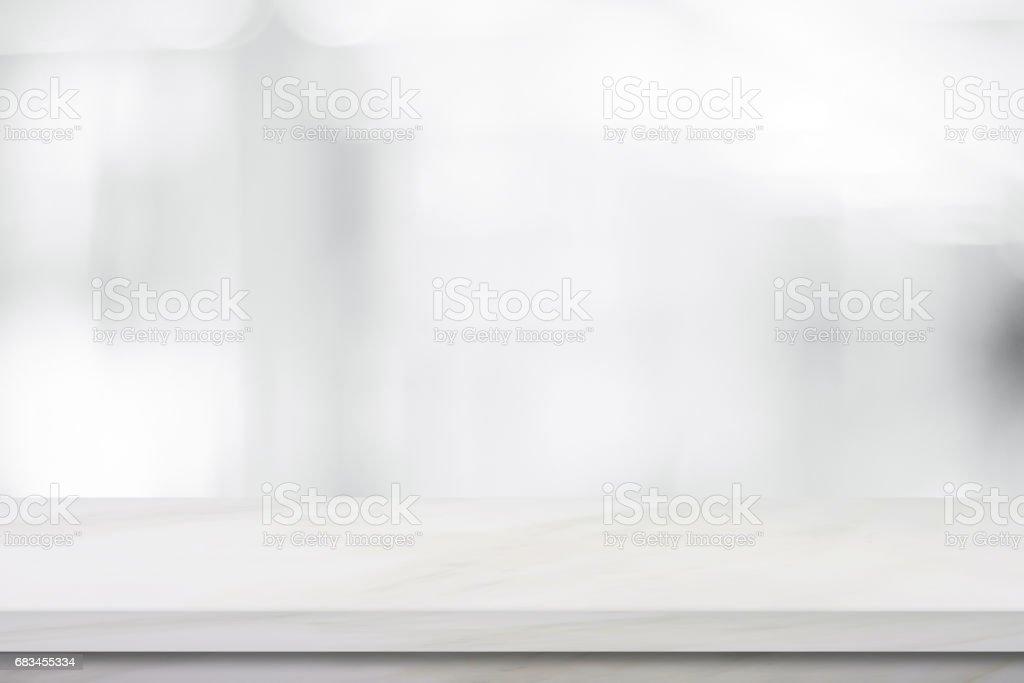 Marbre blanc vide plus flou magasin fond des produits et aliments
