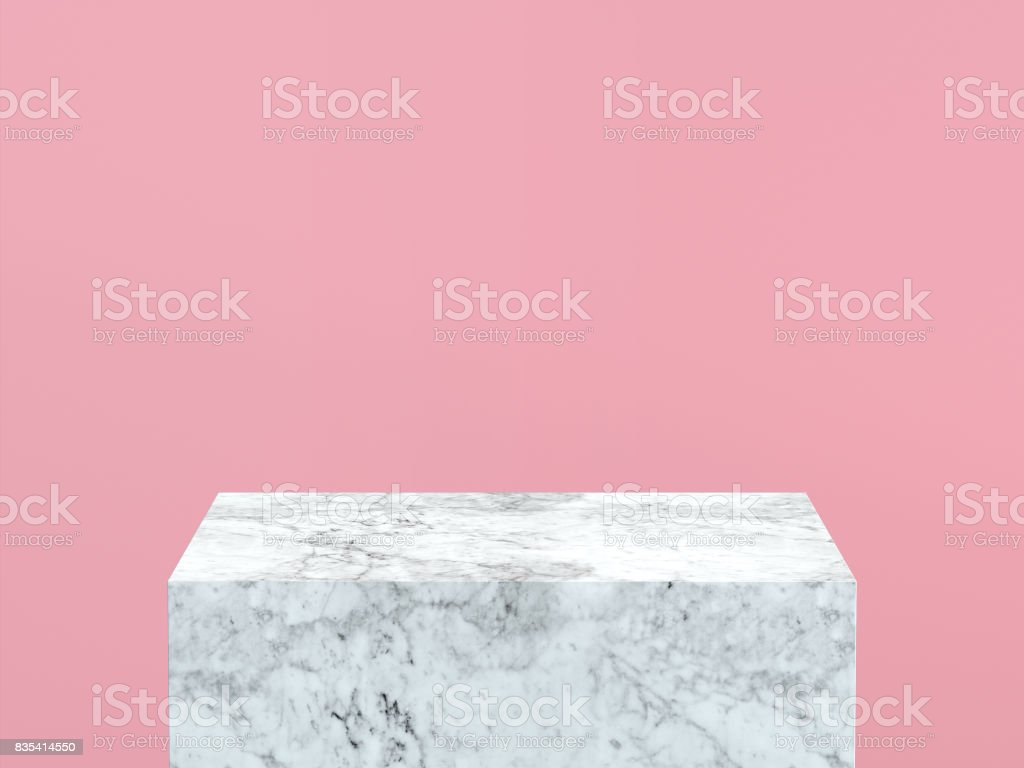 Great Wallpaper Marble Pastel Pink - empty-white-marble-podium-on-pastel-pink-color-background-3d-picture-id835414550  Image_411610.com/photos/empty-white-marble-podium-on-pastel-pink-color-background-3d-picture-id835414550