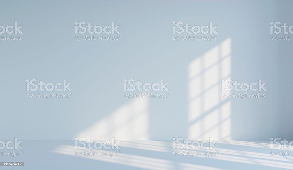 Empty white minimalist room. 3d rendering stock photo