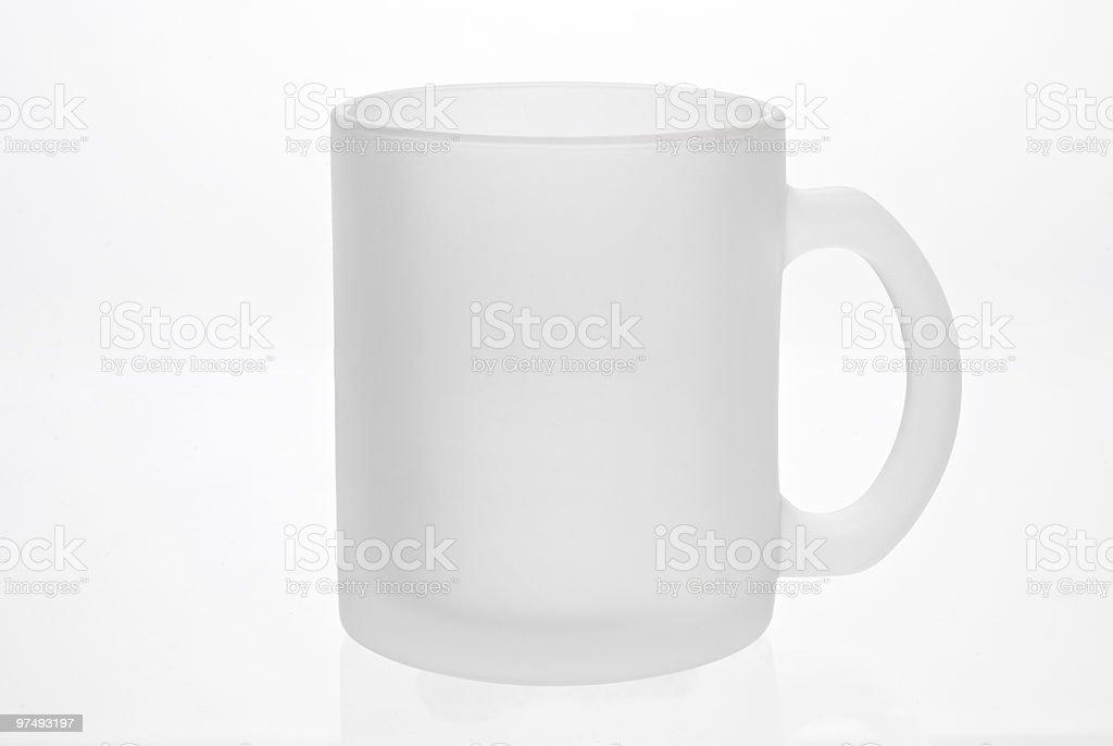 Empty white mug royalty-free stock photo