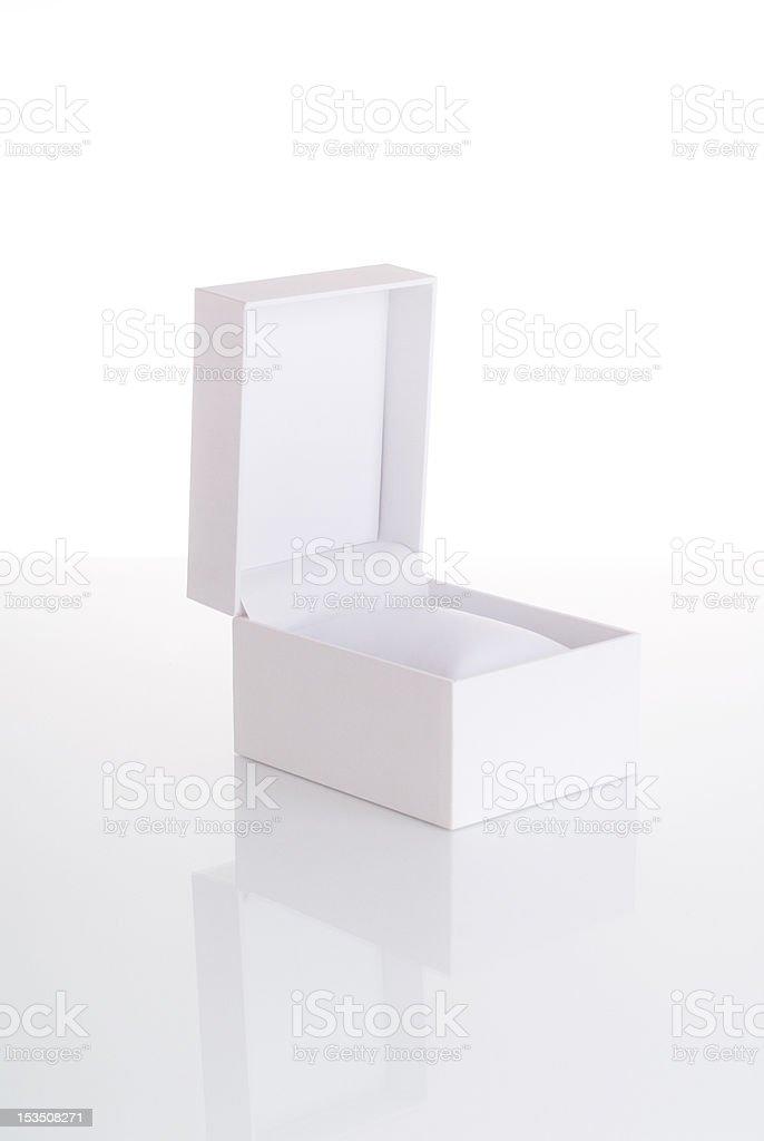Bianco vuoto aperto Portagioie - foto stock