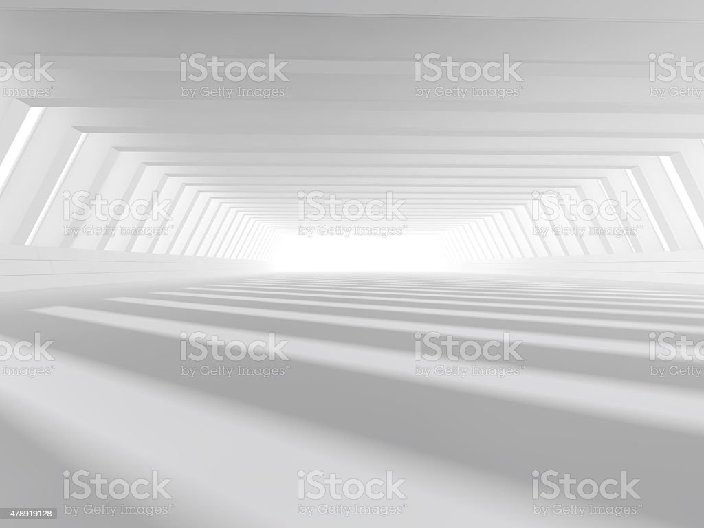 empty white open space 3D rendering stock photo